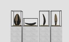 新中式石雕模型
