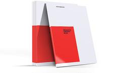 红色商务画册样机