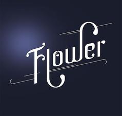 flower艺术字体