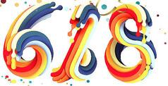 炫彩618艺术字