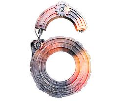 金属齿轮数字6