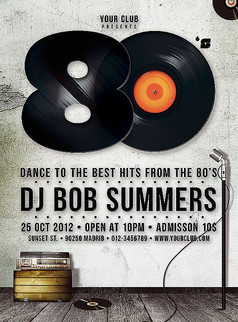酒吧DJ音乐海报