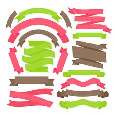 17款彩色丝带设计矢量素材