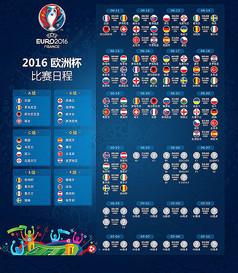 2016欧洲杯赛程图