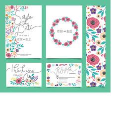 韩系花卉背景底纹卡片设计素材图