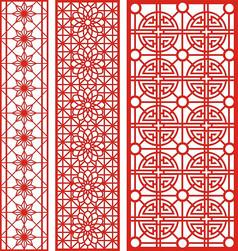 中式复古雕花纹样CDR矢量图