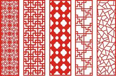 传统大气中国风复古窗花CDR矢量图素材雕花图案 (52)