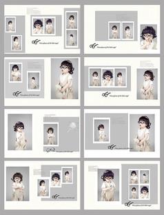 儿童摄影psd相册模板