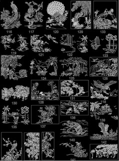 中式雕花装饰画