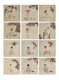 儿童摄影中国风psd模板