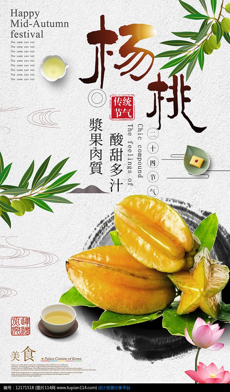 创意杨桃汁促销海报PSD设计稿