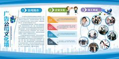 企业文化墙宣传手册设计模板图