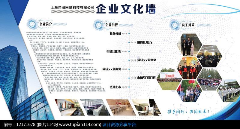 创意企业文化墙宣传手册设计模板