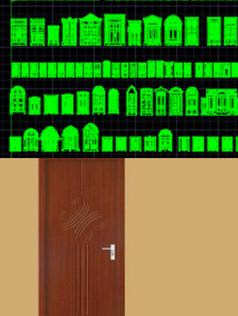 cad门样式家装大门素材