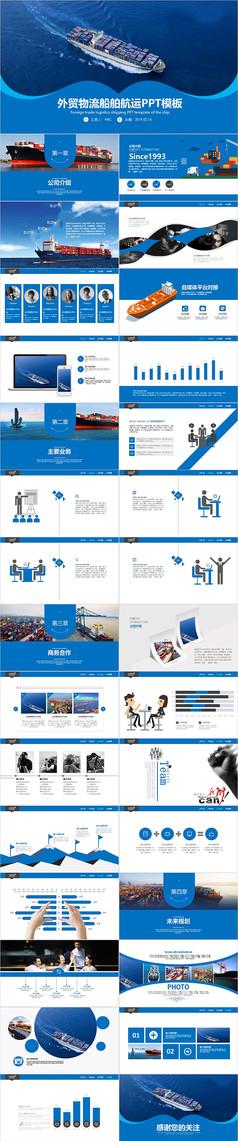 外贸物流船舶航运PPT模板