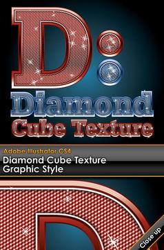 嵌钻石的艺术字