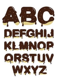 巧克力英文艺术字