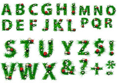 綠草字母藝術字