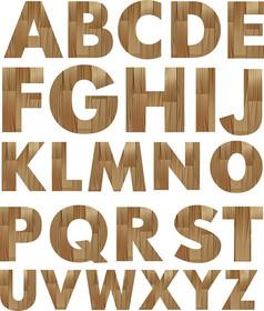 木纹英文字母艺术字