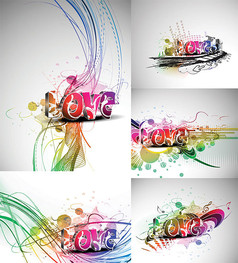 立體藝術字Love