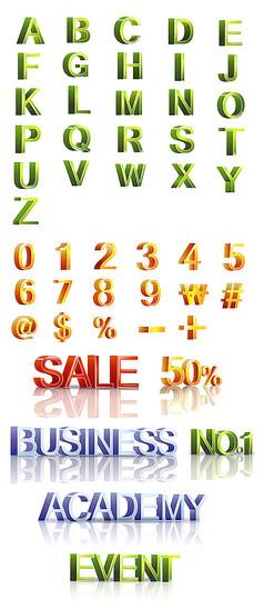 立體英文字母藝術字