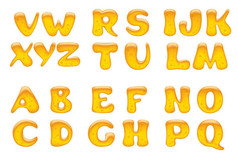 蜂蜜效果大写字母艺术字