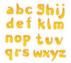 蜂蜜效果小寫字母藝術字