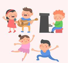 3组卡通艺术儿童矢量素材