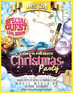 圣诞节party海报