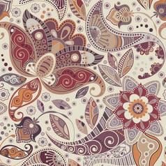 欧式复古手绘小碎花印花底纹图案EPS矢量素材源文件 (25)