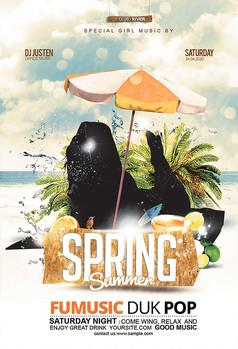 春夏旅游派对海报