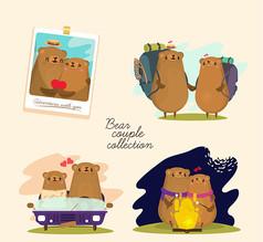 情人节情侣熊
