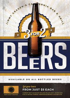 老式啤酒海报
