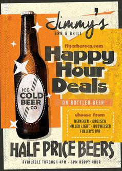 老式啤酒海报免费