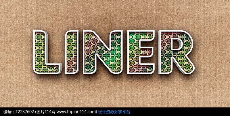 彩色纹理字体特效PS设计素材 (24)