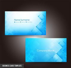 简约高档商务名片设计模板矢量素材 (1)